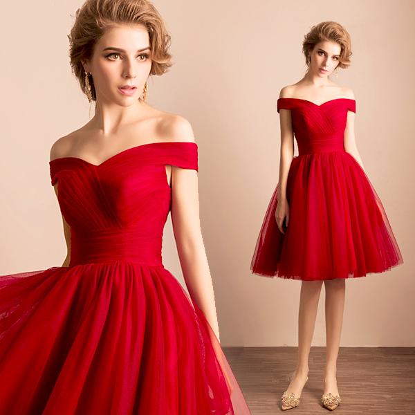 вечернее платье красное фото