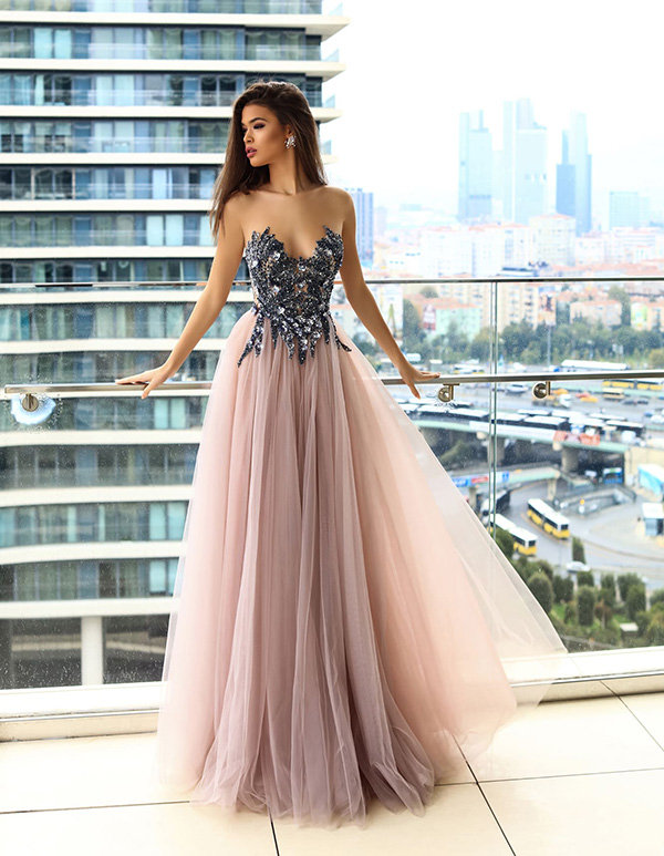 вечернее платье с корсетом фото