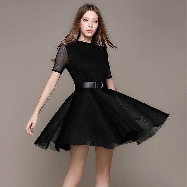 вечернее платье с юбкой-солнце фото