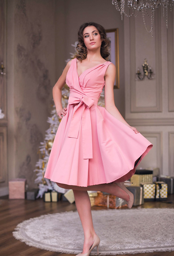 вечернее платье в стиле ретро фото