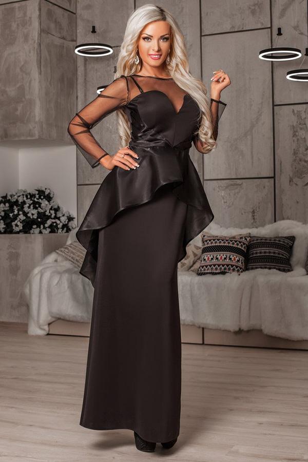 вечернее платье с баской фото