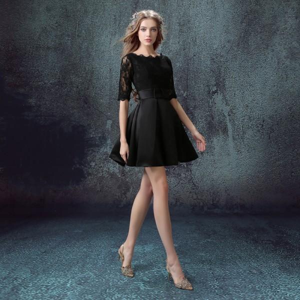 вечернее платье короткое фото