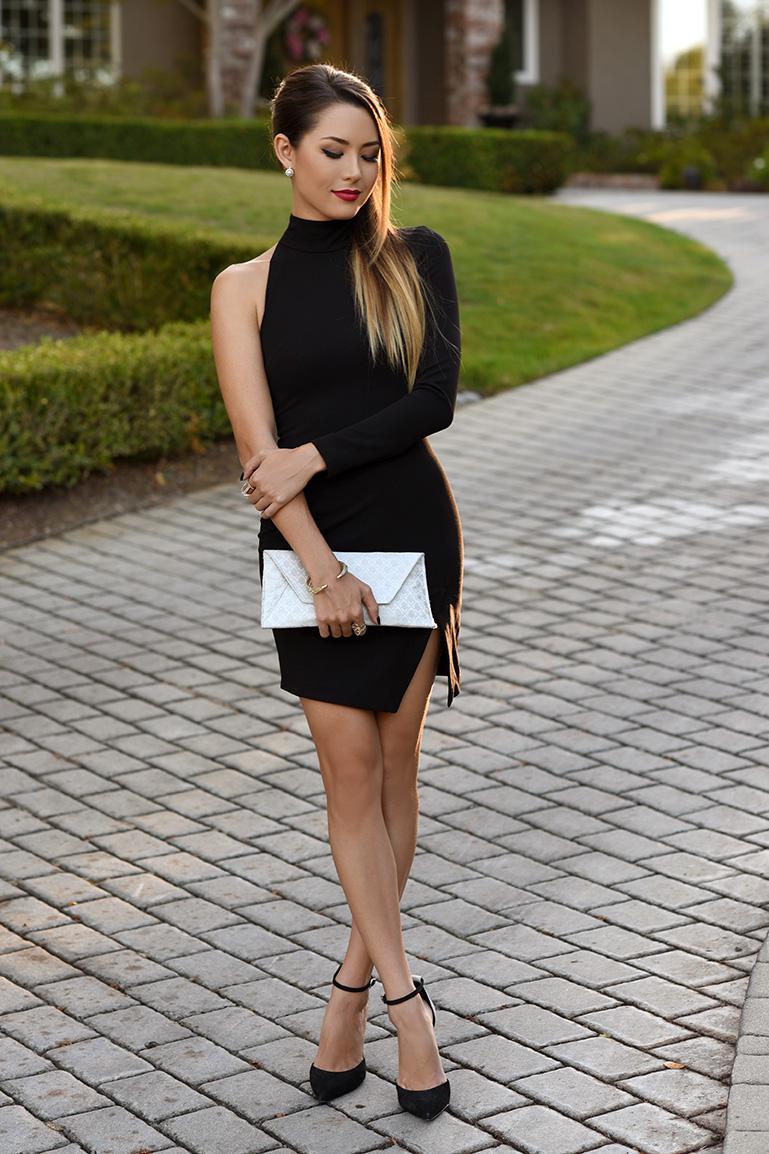черное платье и черные туфли фото