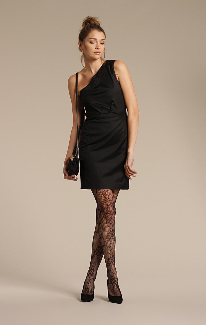черное платье какие колготки фото
