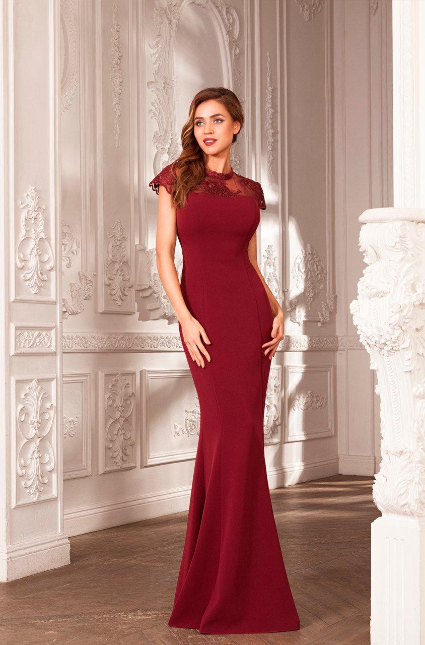 Длинное платье-годе в пол фото