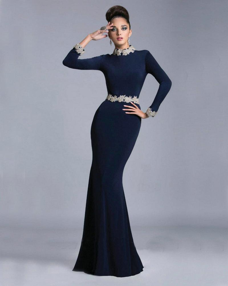платье годе с длинным рукавом