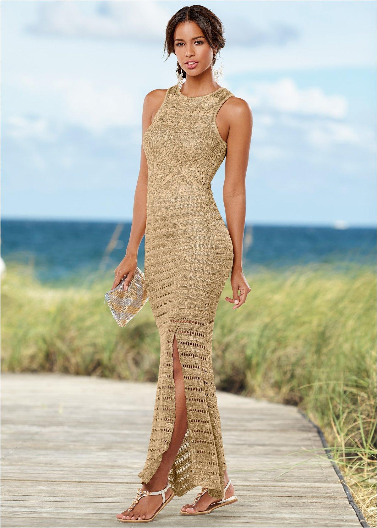 Вязаное платье силуэта годе фото