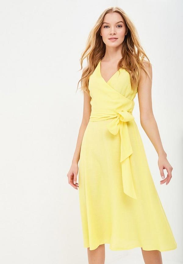 платье годе желтое