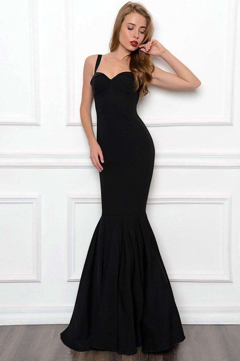 платье годе черное фото