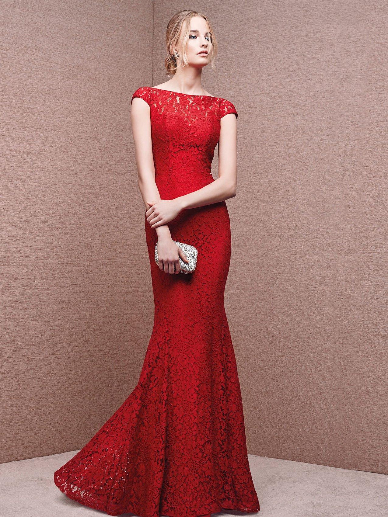 платье годе красное фото