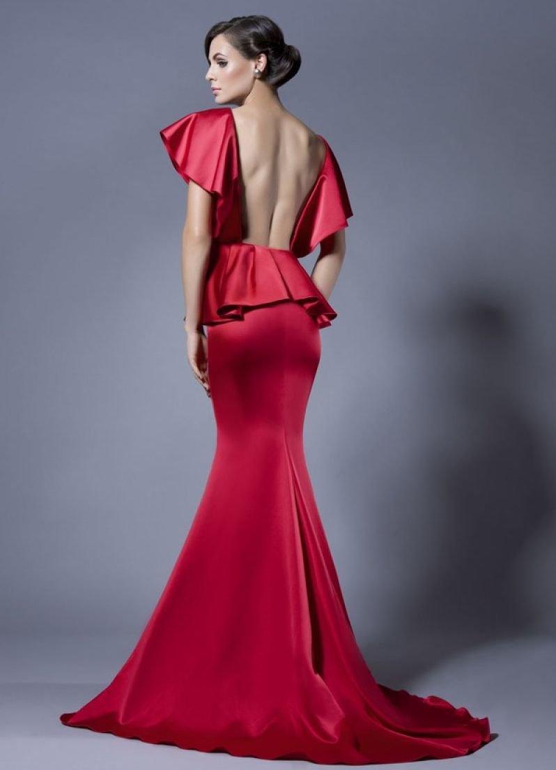 платье годе атлас