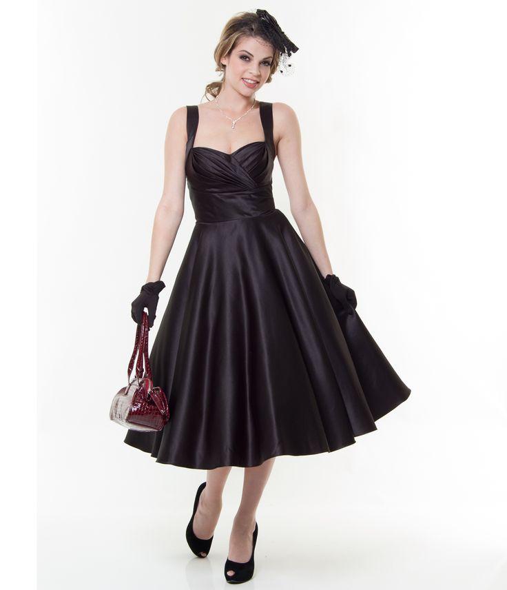 Черное платье в стиле ретро фото