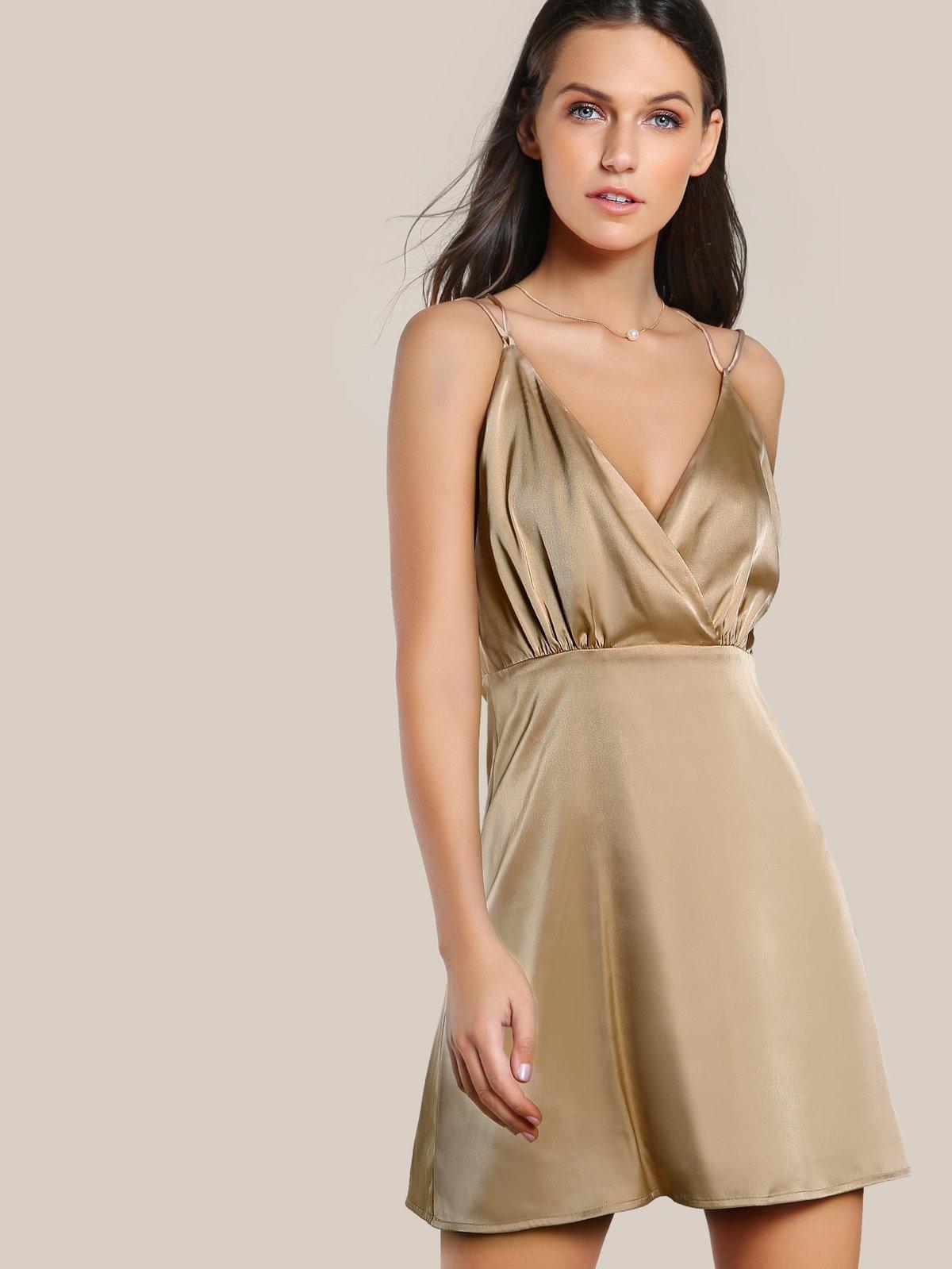 платье из шелка короткое