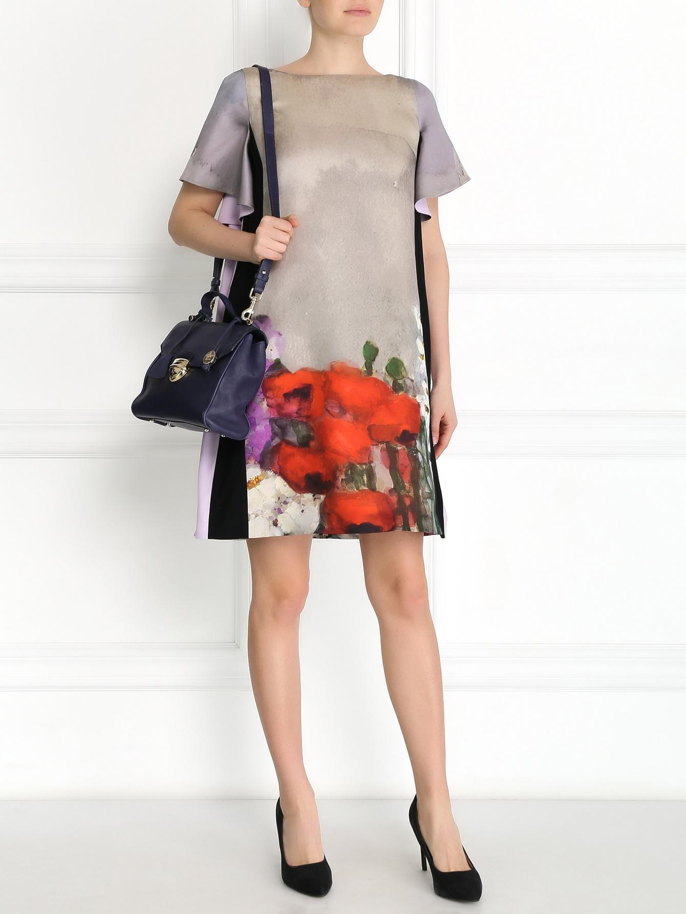 платье из шелка трапеция