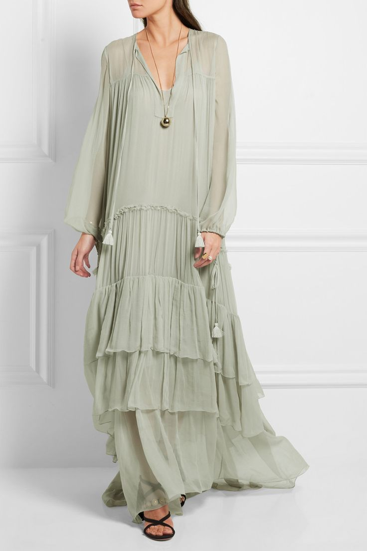 платье из шелка в стиле бохо