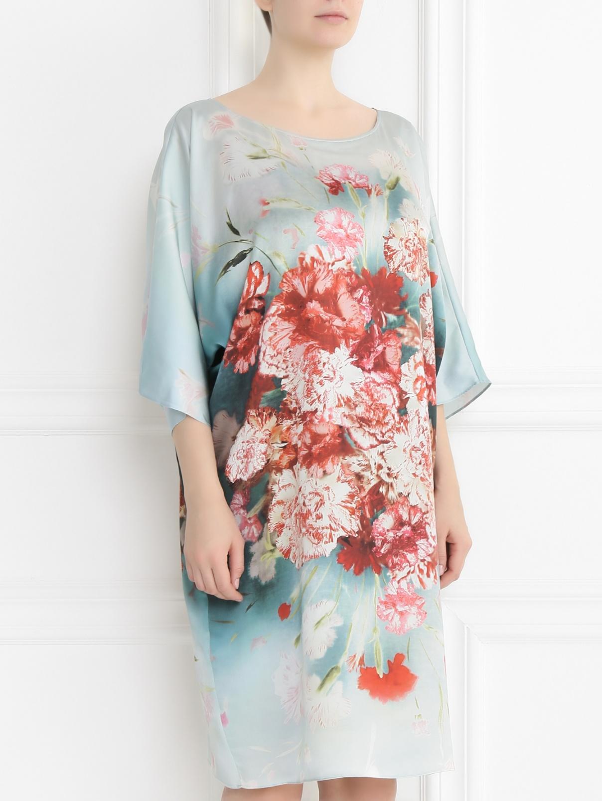 платье из шелка свободное