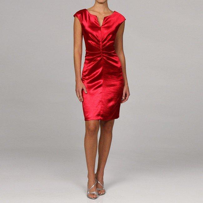 платье из шелка и атласа