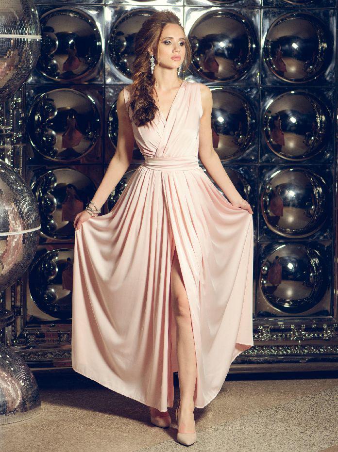 платье из шелка в греческом стиле
