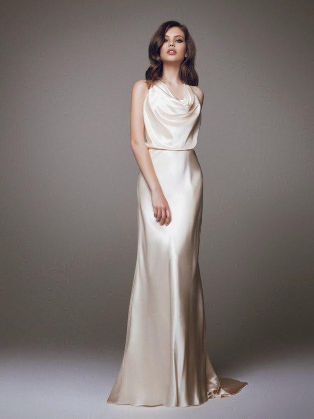 платье из шелка свадебное