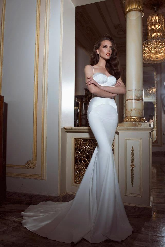 платье из шелка свадебное рыбка