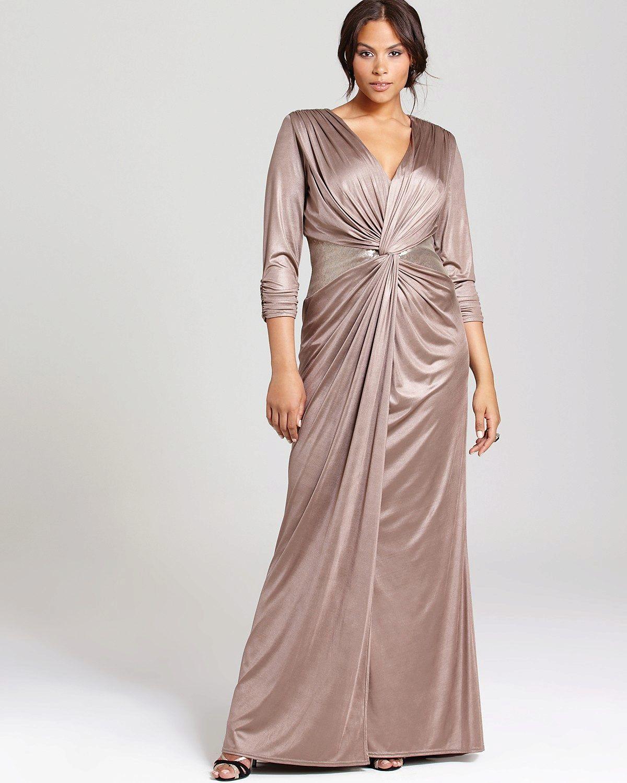 платье из шелка для полных вечернее