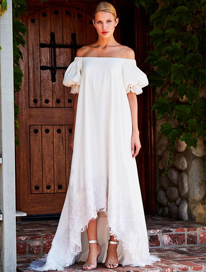 платье свободного кроя свадебное