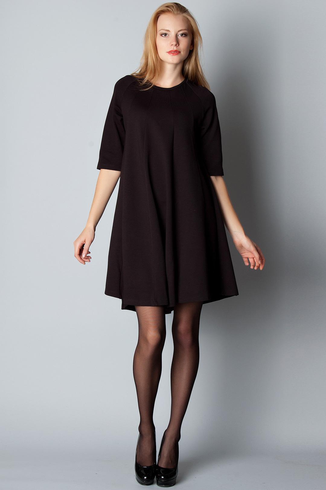 платье свободного кроя черное