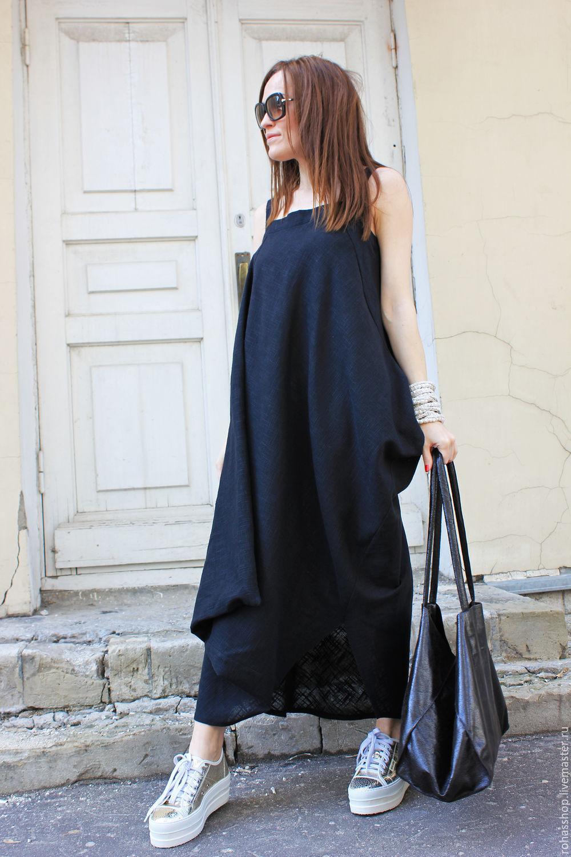 платье свободного кроя и сумка