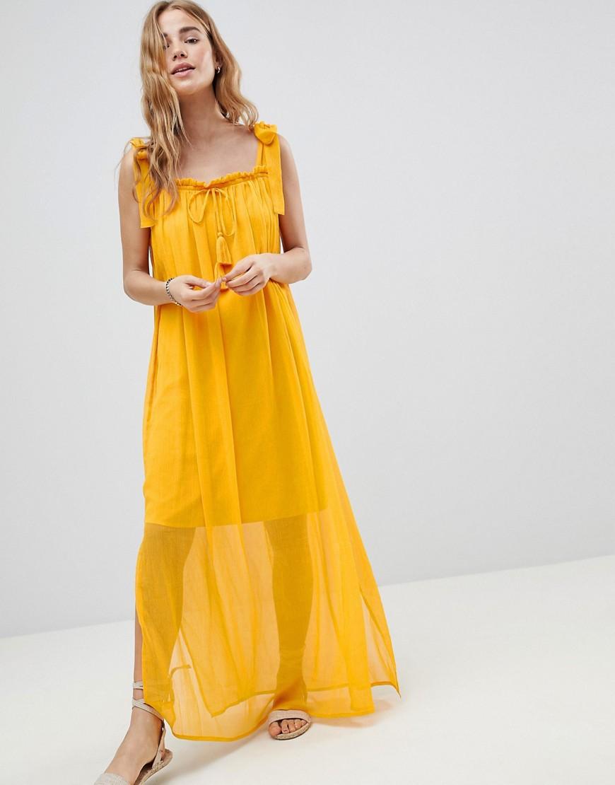 желтое платье пляжное