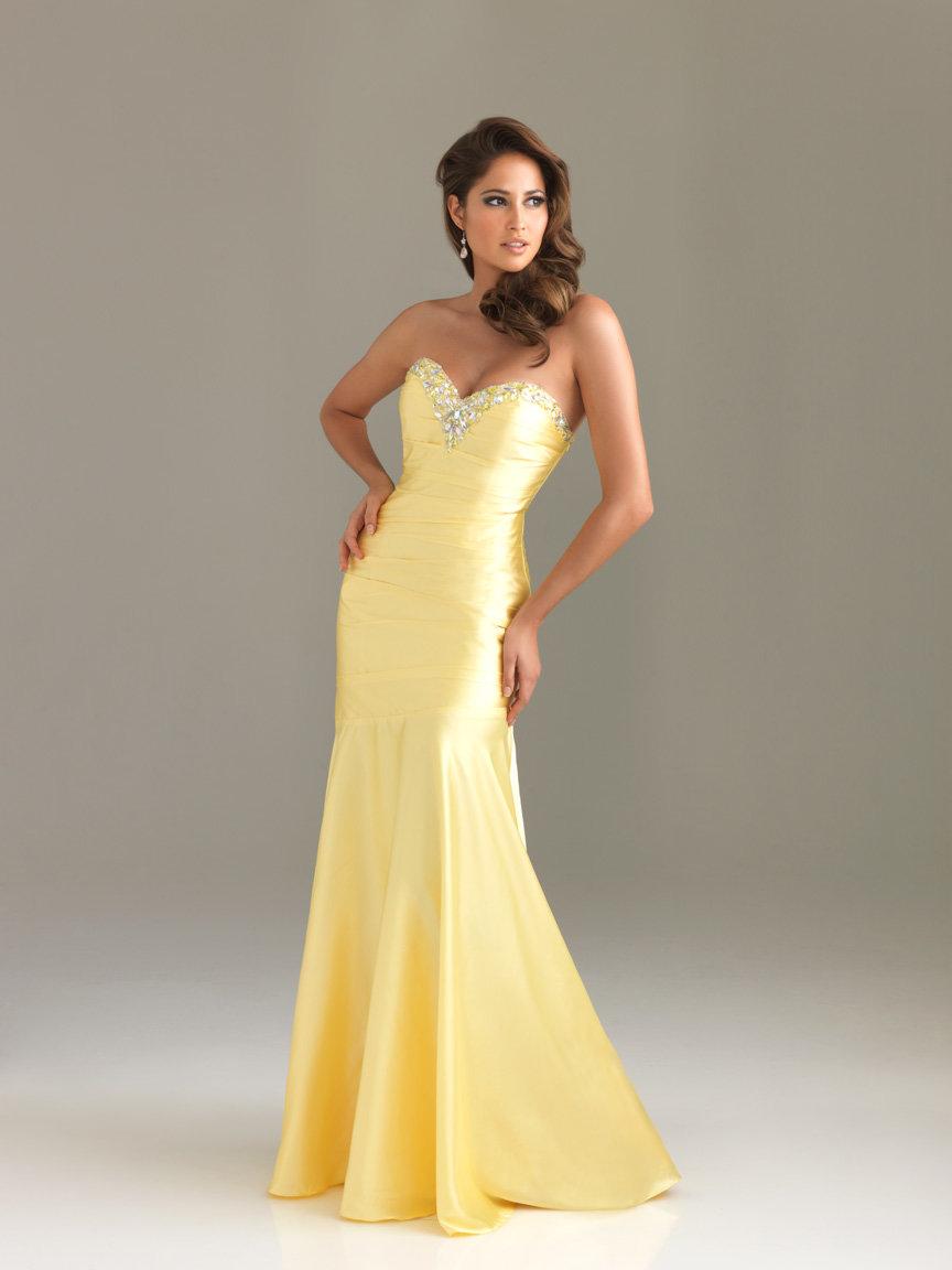 желтое платье рыбка