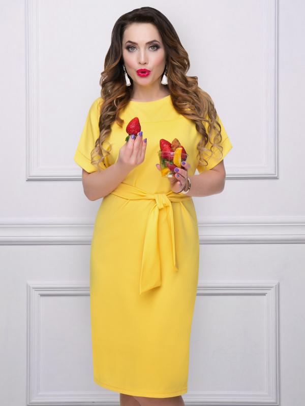желтое платье большого размера
