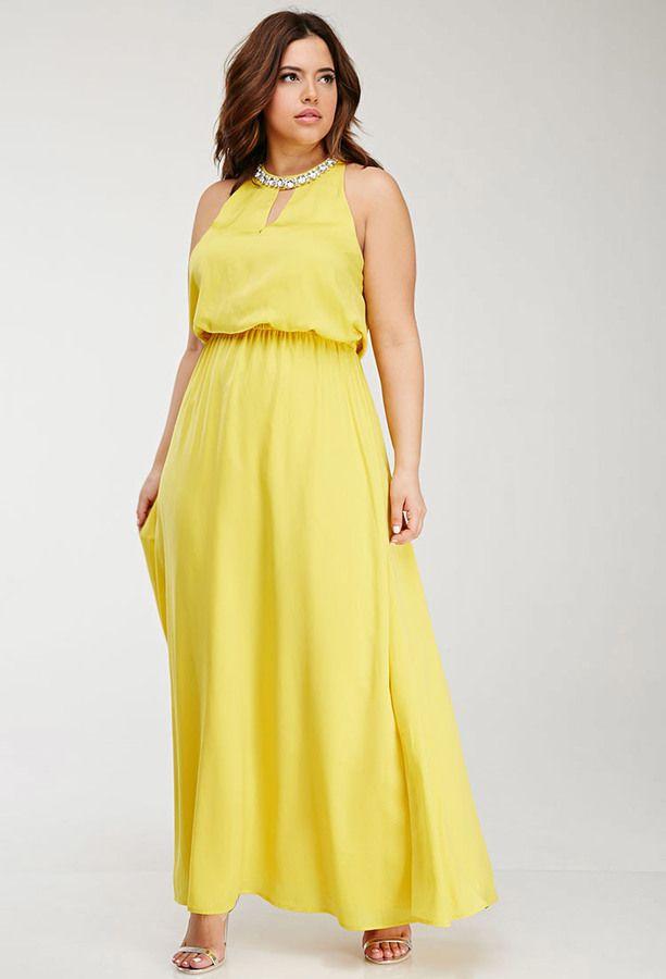 желтое платье большого размера греческое
