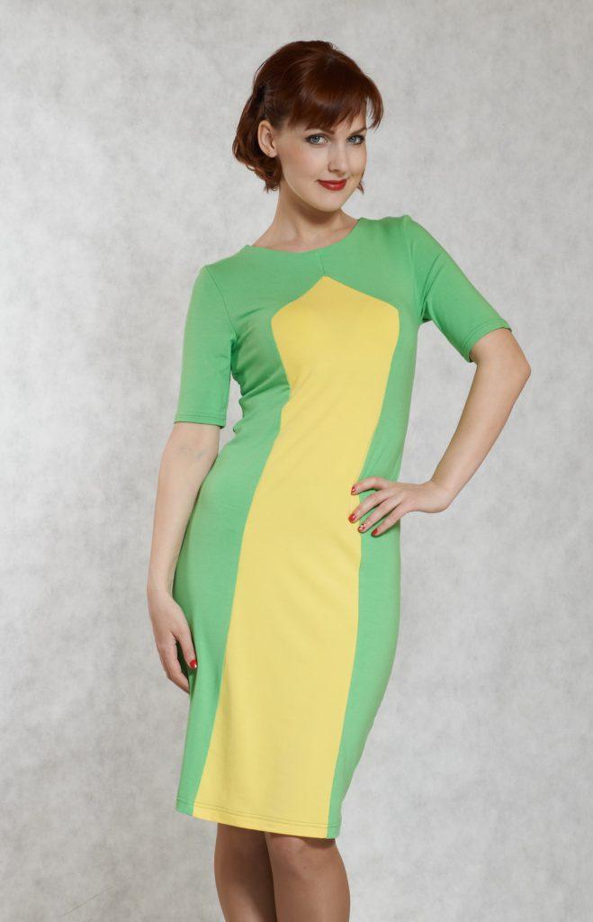 желто зеленое платье