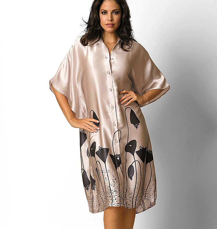 домашнее платье на полных шелковое