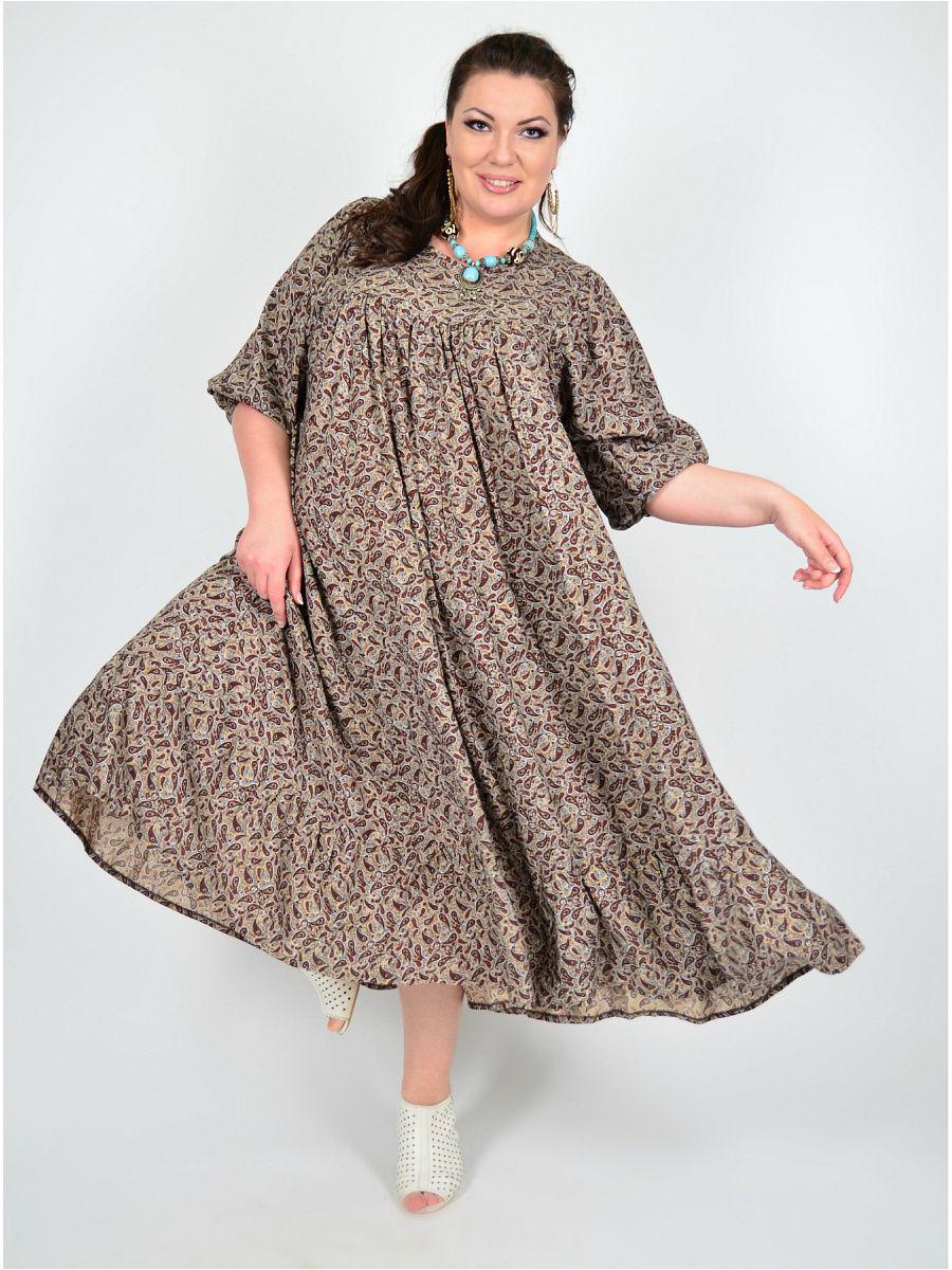 домашнее платье на полных длинное