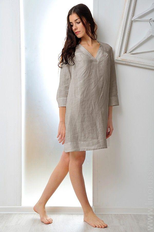 домашнее платье лен