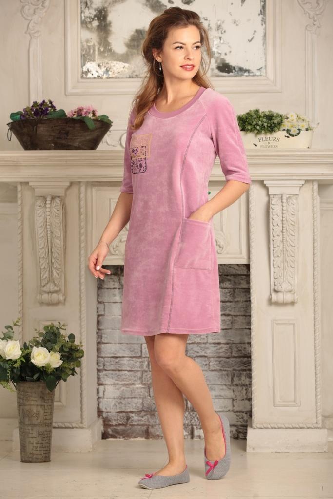 домашнее платье велюр