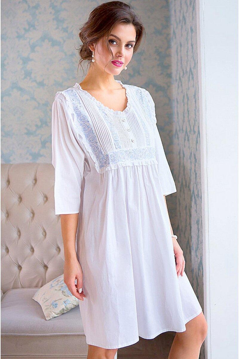 домашнее платье белое