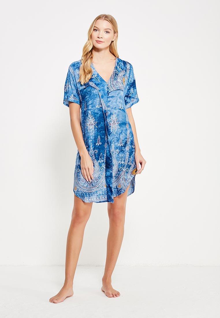 домашнее платье синее
