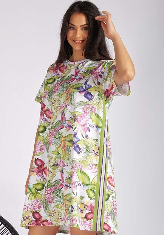 домашнее платье с цветами