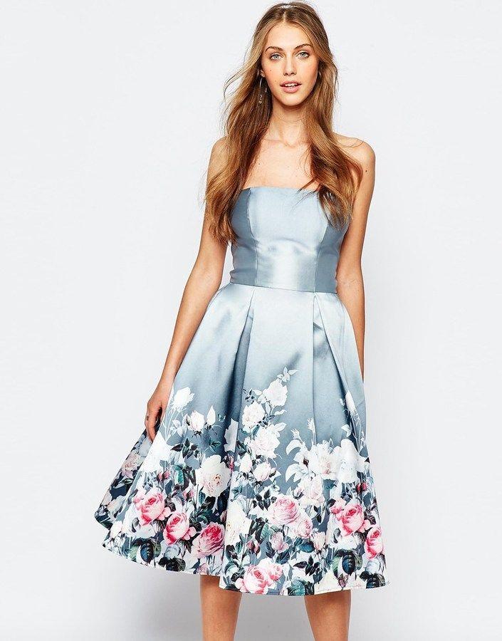 платье с цветочным принтом на выпускной фото