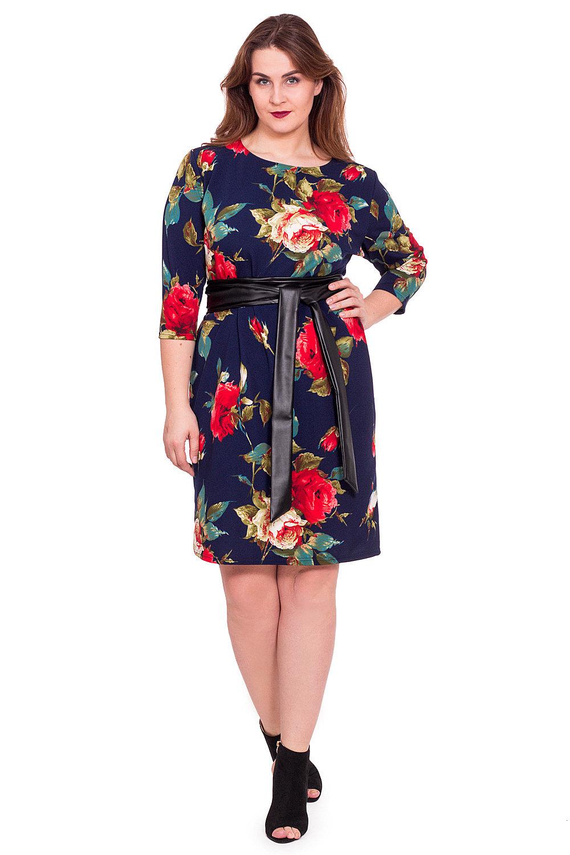 платье с крупными цветами фото