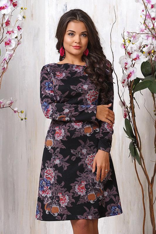 платье с цветочным принтом зимнее фото