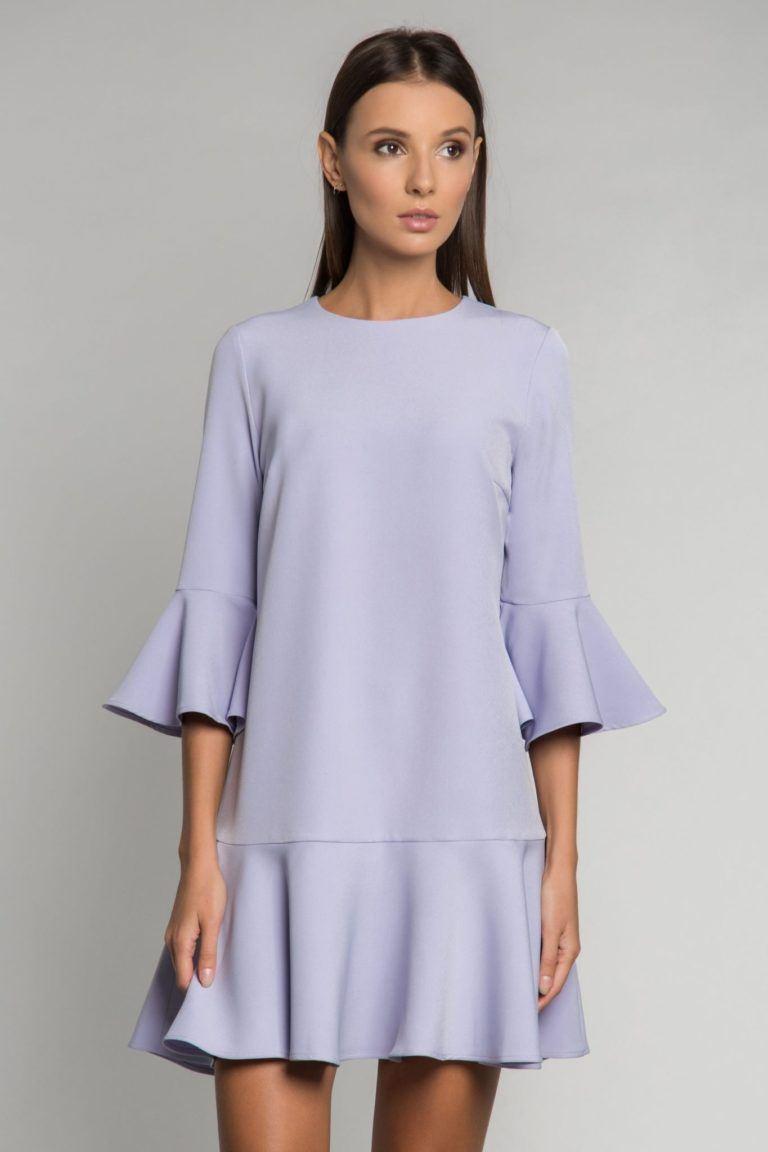 платье трапеция с воланом