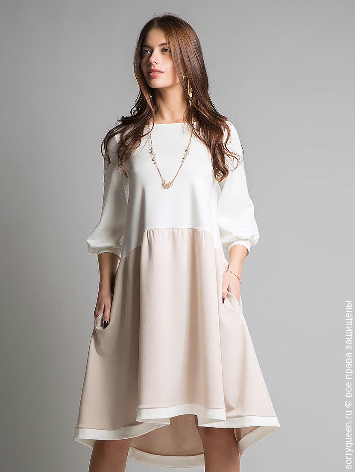 платье трапеция свободного кроя