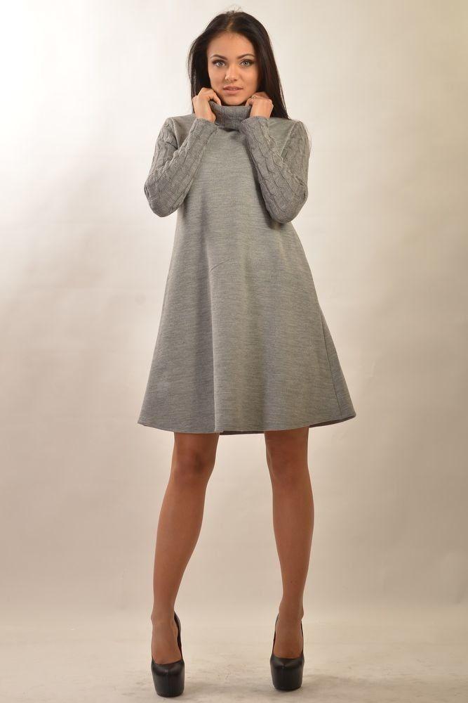 платье трапеция вязаное