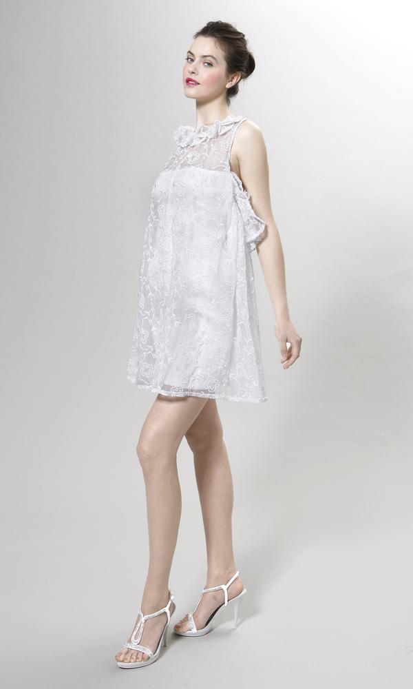 платье трапеция свадебное без рукавов