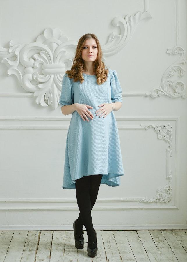 платье трапеция для беременных миди