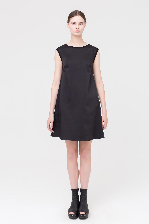 платье трапеция цвет черный