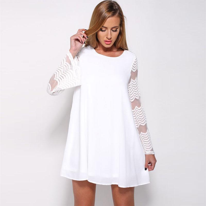 платье трапеция цвет белый